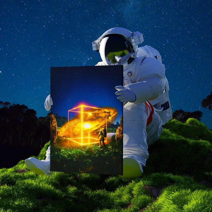 Cosmic Cube Canvas Print - Lumi Prints