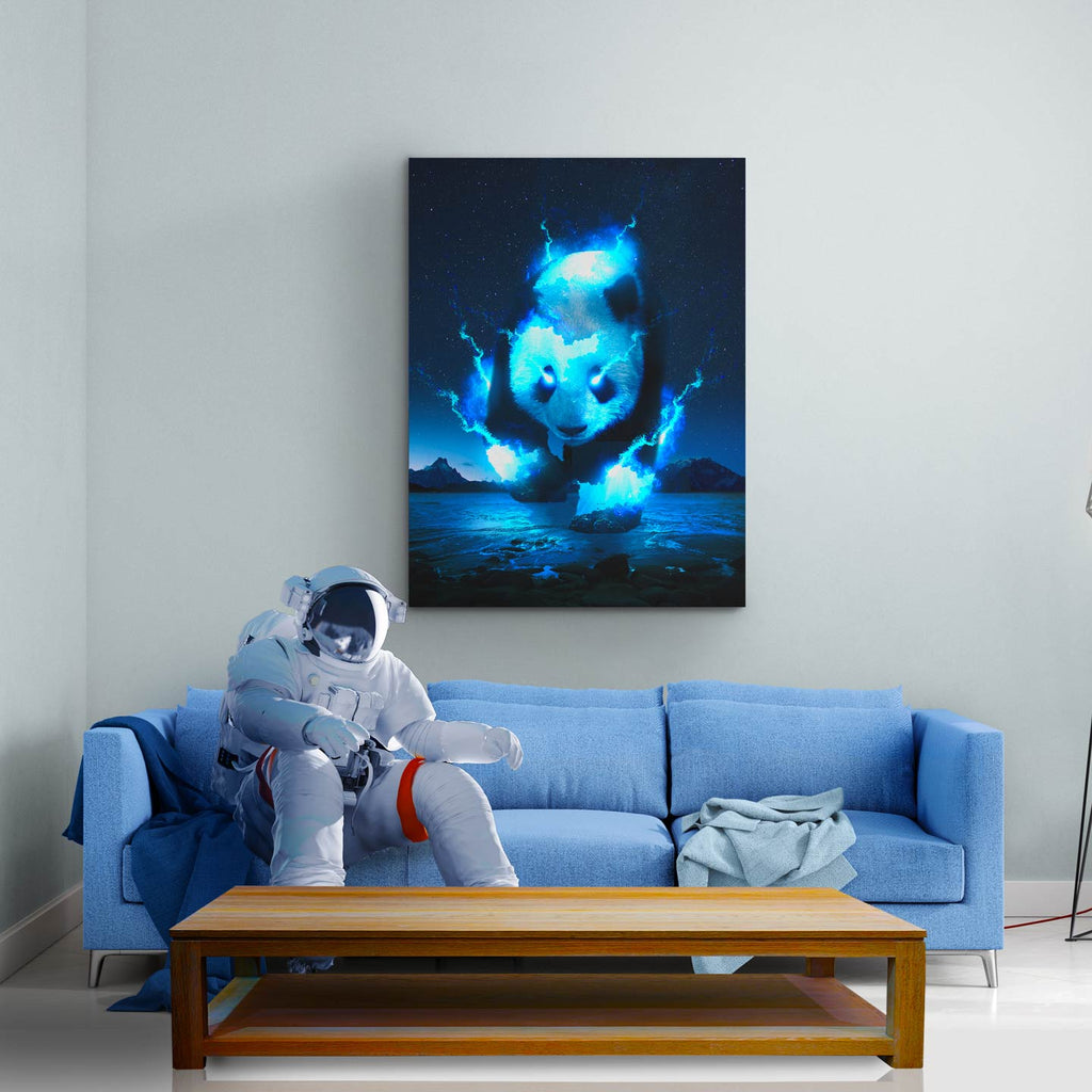 Cosmic Panda Canvas Print - Lumi Prints