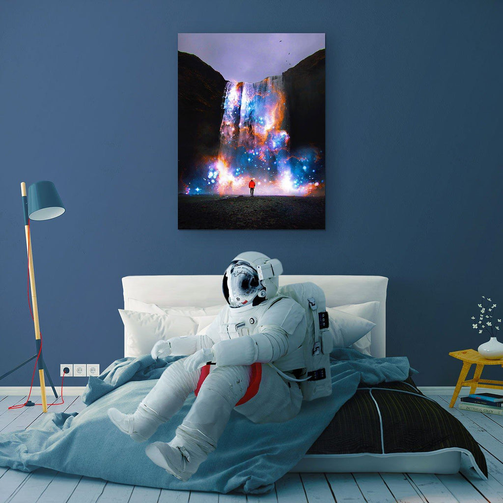 Cosmic Waterfall Canvas Print - Lumi Prints