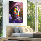 Neon Iris Canvas Print - Lumi Prints