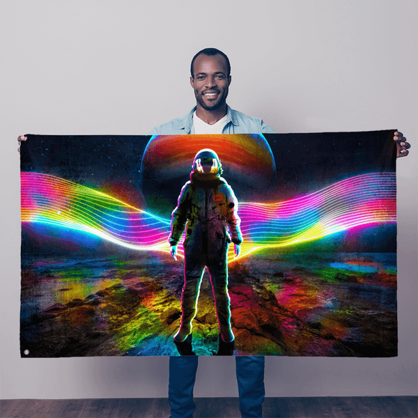Rainbow Astronaut Sublimation Flag