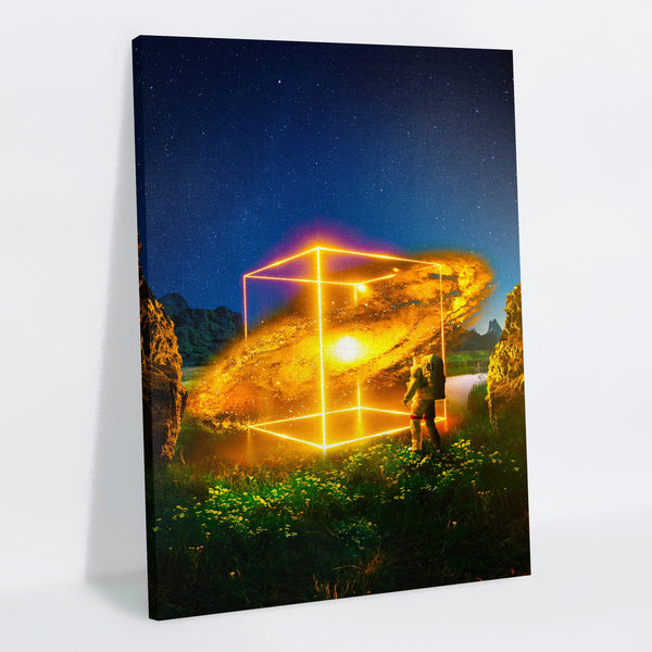 Cosmic Cube Canvas Print