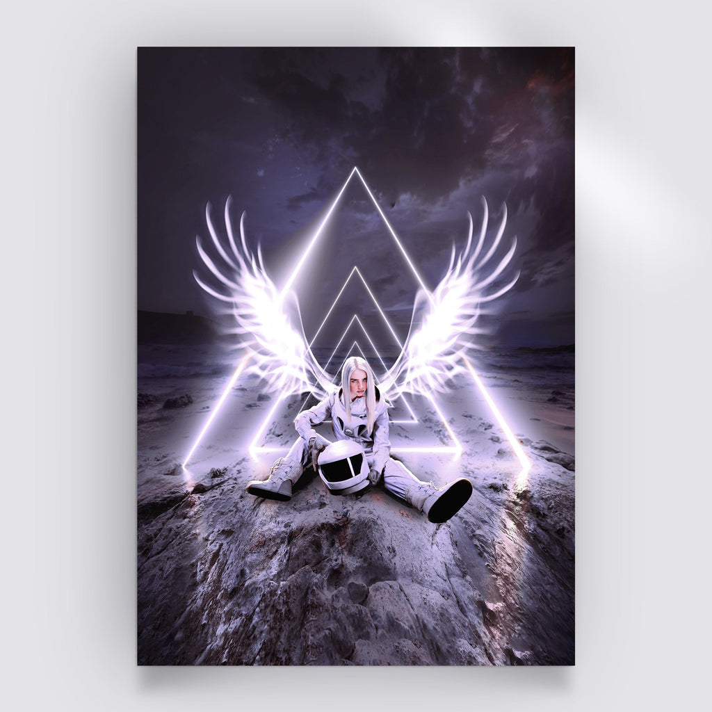 White Angel Poster - Lumi Prints