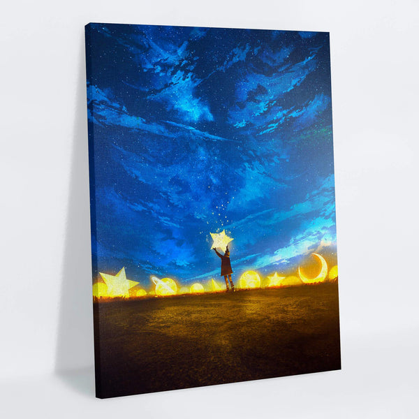 Giving Back The Stars Canvas Print