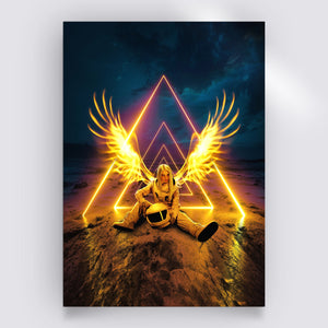 Gold Angel Poster - Lumi Prints