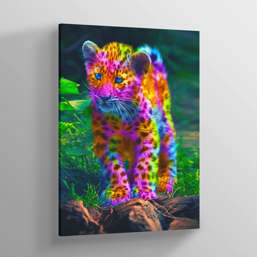 Rainbow Leopard Canvas Print - Lumi Prints