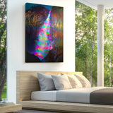Blacklight Falls Canvas Print - Lumi Prints