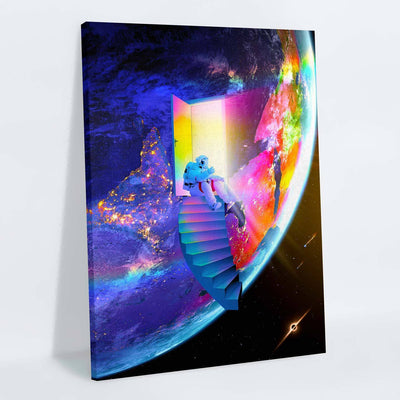Cosmic Staircase Canvas Print - Lumi Prints