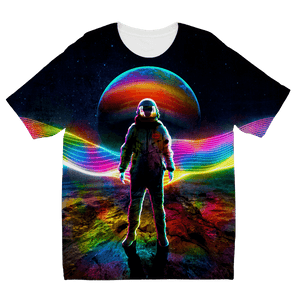 Rainbow Astronaut Sublimation Kids T-Shirt