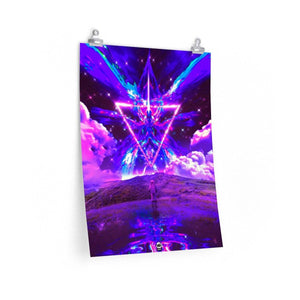 Neon Angel Premium Poster (Limited Edition) - Lumi Prints