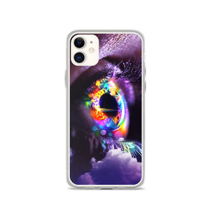 Neon Iris iPhone Case