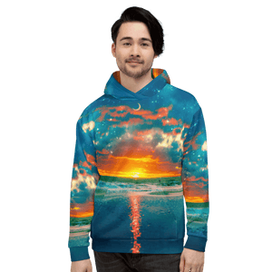 Technicolor Sunset Hoodie - Lumi Prints