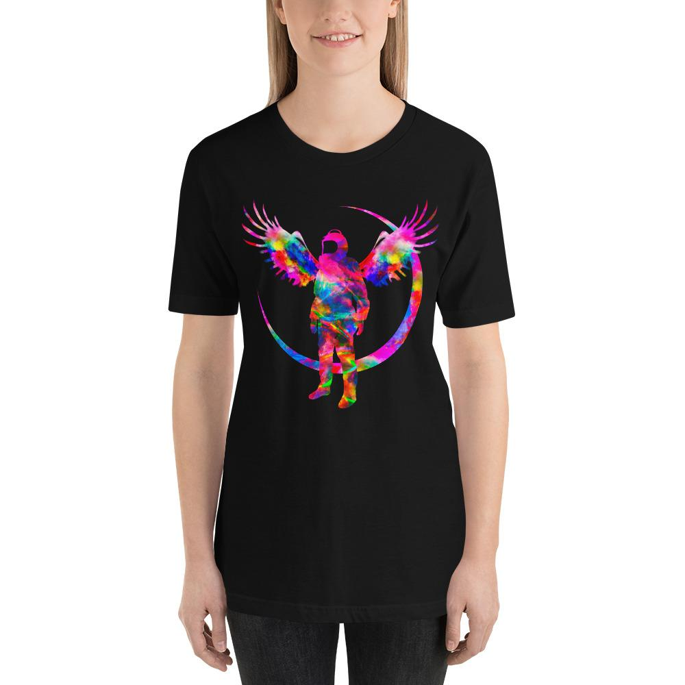 Angel Black Short-Sleeve Unisex T-Shirt - Lumi Prints