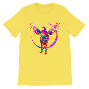 Angel Yellow Short-Sleeve Unisex T-Shirt - Lumi Prints