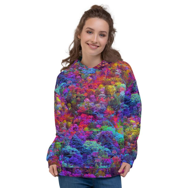 Psychdelic Forest Hoodie - Lumi Prints