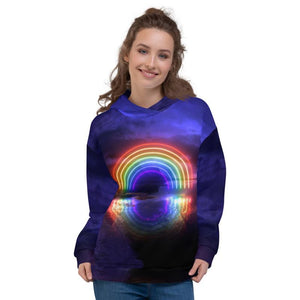 Rainbow Reflections Hoodie - Lumi Prints