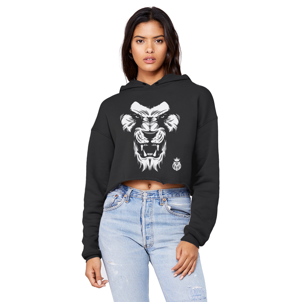 King W Unisex Cropped Raw Edge Boyfriend Hoodie