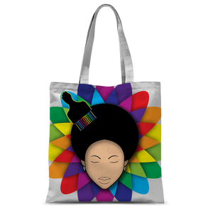 flower Classic Sublimation Tote Bag