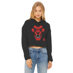 King R Ladies Cropped Raw Edge Hoodie