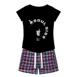 Soul Sis★9 Girls Sleepy Tee and Flannel Shorts