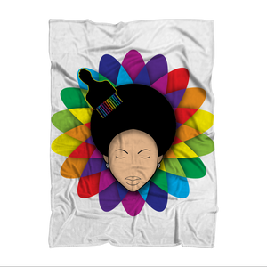 flower Sublimation Throw Blanket