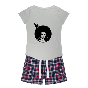 soulsis3 Girls Sleepy Tee and Flannel Shorts