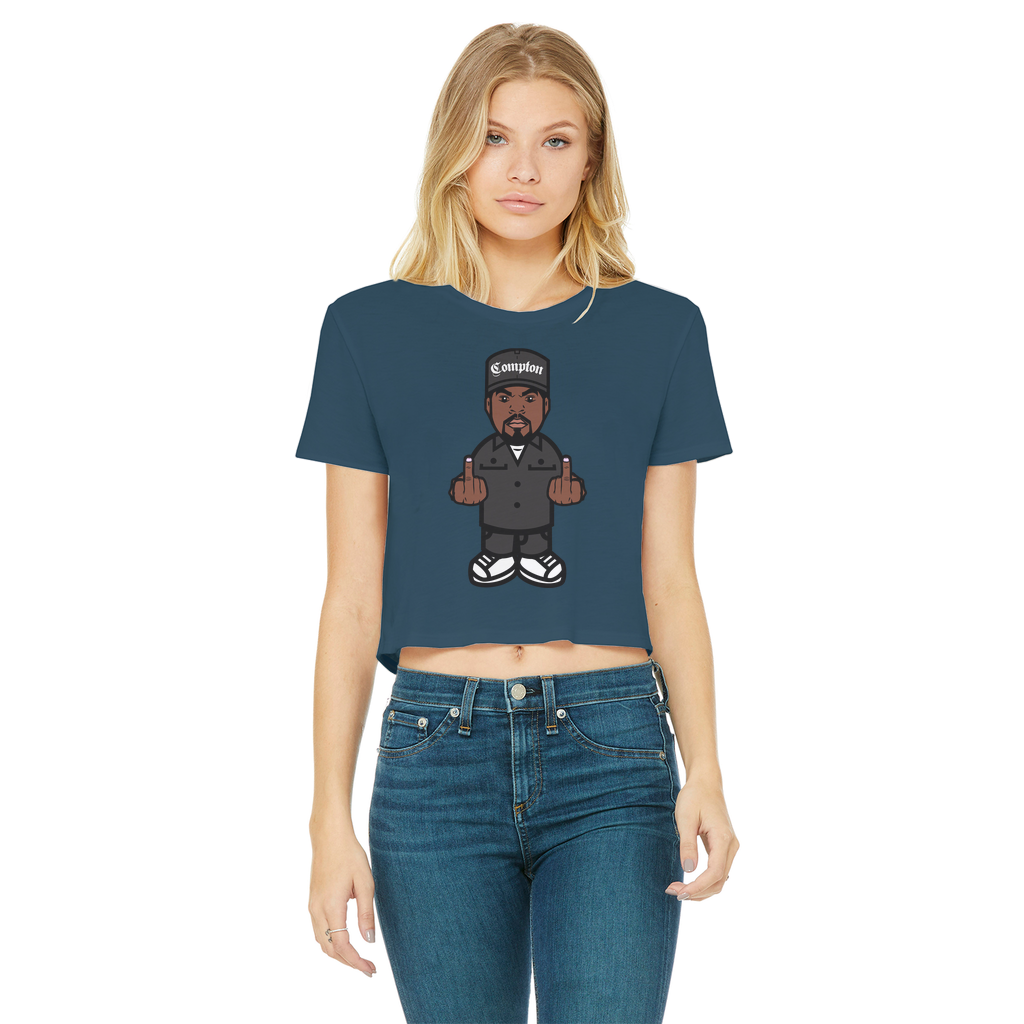 cube Classic Women's Cropped Raw Edge T-Shirt