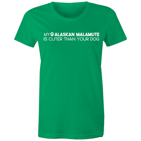 My Malamute is Better Than Your Dog - Womens V Neck T-shirt