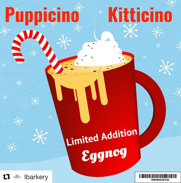 L'Barkery Egg Nog Puppicino - Kitticino Single Serve