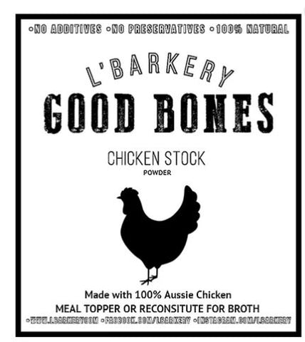 L'Barkery Chicken Bone Broth - Bottled - All sizes-L'Barkery-Bad Wolf Boutique