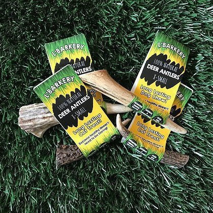 Naturally Shed Deer Antler Extra Small - For Small Dogs and Cats