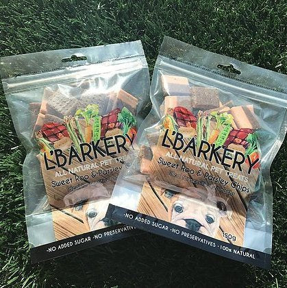 L'Barkery Sweet Roo and Parsley Chips - 150 gram packet