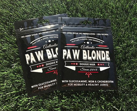 L'Barkery Paw Blonde Doggie Beer Packet