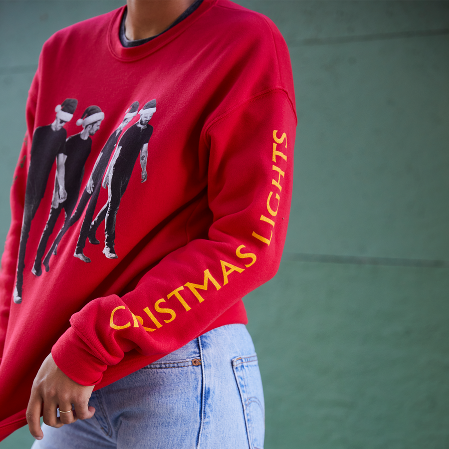 CHRISTMAS LIGHTS CREWNECK SWEATSHIRT