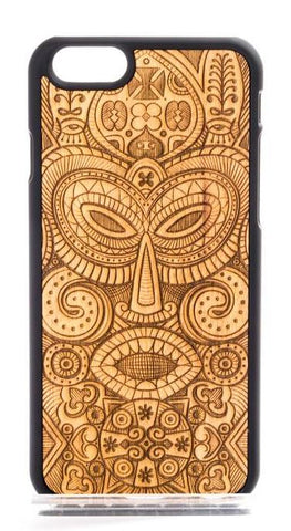 Wooden Tribal Mask Design Phone Case