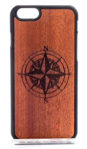 Wooden Compass Design Phone Case