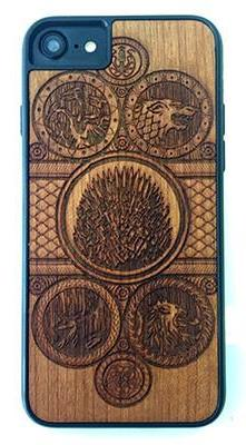 Wooden Game of Thrones Design Phone Case
