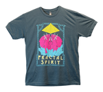 Shirt (Screen Print) - Crystal Elephant Mandala - Fractal Spirit