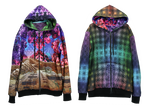 Reversible Hoodie - Valley of Shadow - Fractal Spirit