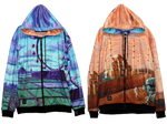 Reversible Hoodie - Gateway Pilgrimage - Fractal Spirit