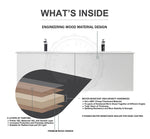"COLMAR 24"" DARK GRAY WALL MOUNT MODERN BATHROOM VANITY"