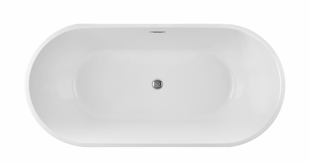 Karton Republic 60-inch  BT-03 Modern Freestanding Bathtub (Acrylic)