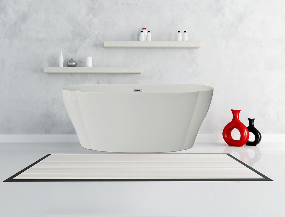 Karton Republic 60-inch BT-07 Modern Freestanding Bathtub (Acrylic)
