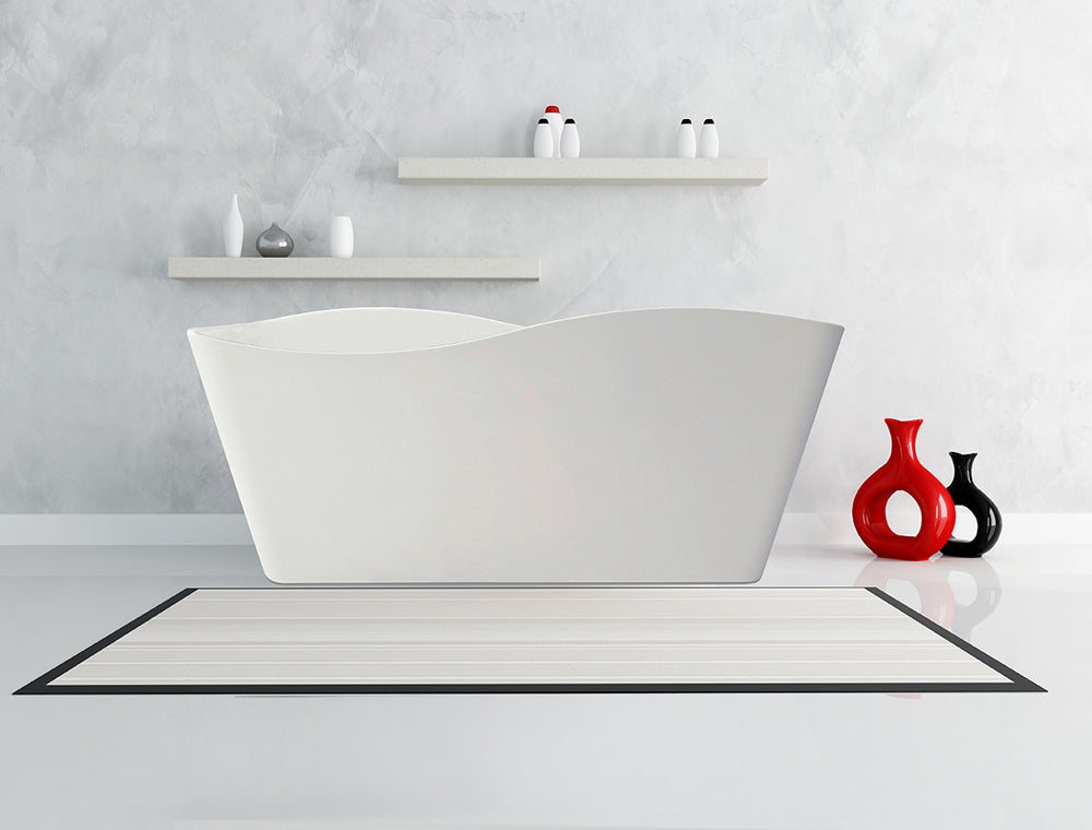 Karton Republic 67-inch BT-15 Modern Freestanding Bathtub (Acrylic)