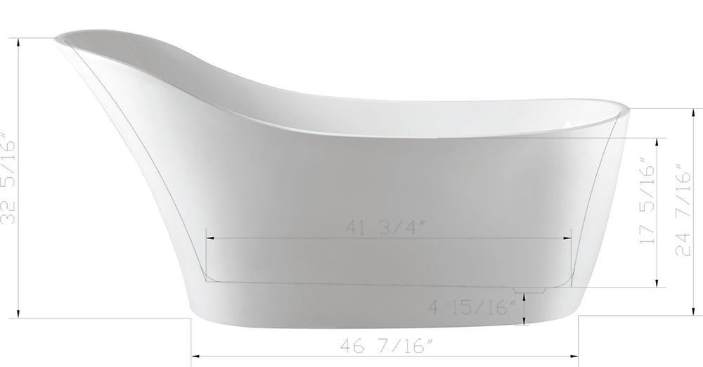 Karton Republic 67-inch BT-28 Modern Freestanding Bathtub (Acrylic)