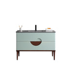 "BURANO 48"" ALOE GREEN FREESTANDING MODERN BATHROOM VANITY"