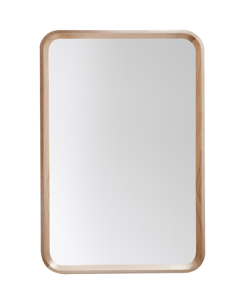 Mirror Vela 24-inch Whitewash Oak