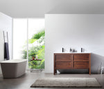 "ANNECY 55"" DARK WALNUT FREESTANDING MODERN BATHROOM VANITY"