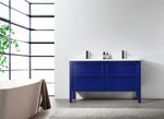 "ANNECY 55"" NAVY BLUE FREESTANDING MODERN BATHROOM VANITY"