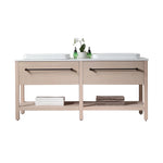 "BEVERLY 67"" WHITEWASH OAK FREESTANDING MODERN BATHROOM VANITY"